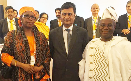 Amina Moumouni Assemblee Generale de l Alliance Solaire Internationale New Delhi Inde