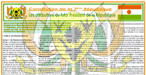 Constitution 7eme Republique Niger